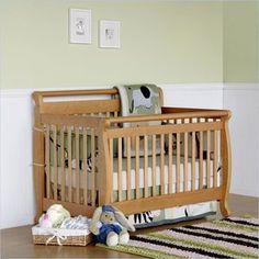 DaVinci Emily Convertible Crib Set W Full Twin Size Rail In Honey Oak