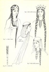 Glossary of English Hairstyles and Headdress:   Jewels, Hair and Accessories of the Middle Ages