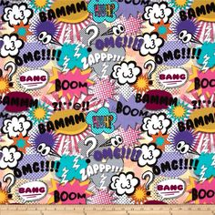 Michael Miller Bam Flannel Girl from @fabricdotcom  Designed for Michael Miller Fabrics, this single napped (brushed on one side) flannel is perfect for quilting and apparel. Colors include black, pink, purple, turquoise, grey and yellow.