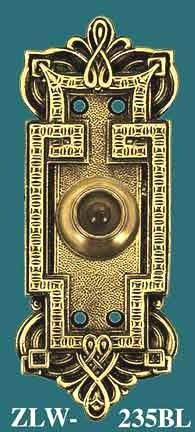 Vintage Hardware & Lighting - Byzantine Gothic Style Push Button Electric Doorbell (ZLW-235BL)