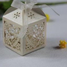 Modern Decorative Laser Cut Bridal Shower, Wedding Gift Favor Boxes EWFB035