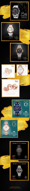 Postagens diárias para o Facebook e Instagram da Official Time, loja de jóias e relógios de Jundiaí.