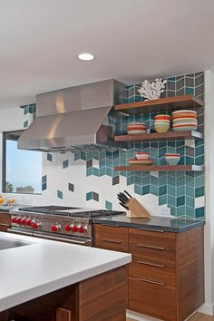 89 Best Bold Kitchen Tile Images On Pinterest Fireclay Tile