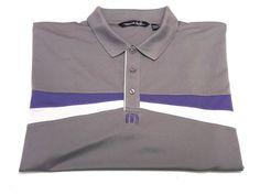 Travis Mathew XXL Men's Short Sleeve Golf Polo Shirt Gray Purple White 2XL #TravisMathew #PoloRugby