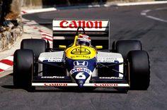 Nelson Piquet, Williams-Honda FW11B, 1987 Monaco GP,  Monte Carlo