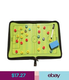 Training Aids Magnetic Coaching Training Board Tactical Tactic Folder Soccer Football Kit #ebay #Lifestyle