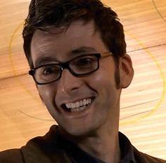 wink grin smirk smile clever glasses