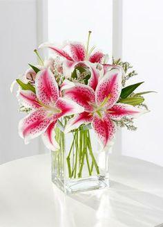 stargazer lily centerpiece