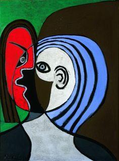Tête de femme - Picasso - 1929 - oil on wood