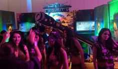 Girls And Armored Vehicles - #FHM100SexiestParty World Of Tanks Booth
