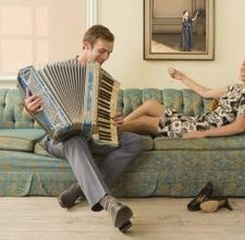Play the accordion, go to jail.  That's the law.