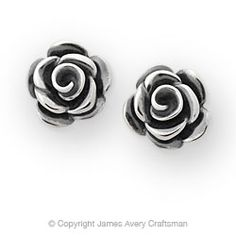 Rose Blossom Ear Posts from James Avery