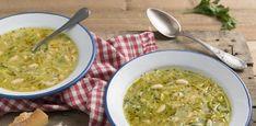 Aprende a preparar la receta de esta reconfortante sopa de puerro Palak Paneer, Ethnic Recipes, Soups, Food, Leek Soup, Dishes, Recipes, Wine Goblets, Ethnic Food