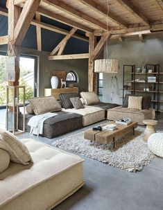gorgeous living room designs ideas to try 1 ~ Modern House Design Home Living Room, Interior Design Living Room, Living Room Designs, Living Room Decor, Interior Design With Wood, Rustic Living Rooms, Bedroom Decor, Rustic Home Design, Ikea Bedroom