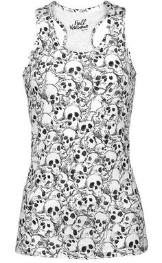 Allover Skulls top by Full Volume ~ EMP
