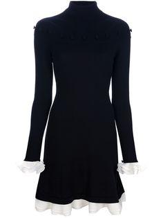 ALEXANDER MCQUEEN Turtle Neck Jersey Dress