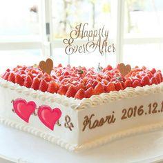 結婚式の可愛い1段のウェディングケーキデザイン集 | marry[マリー]