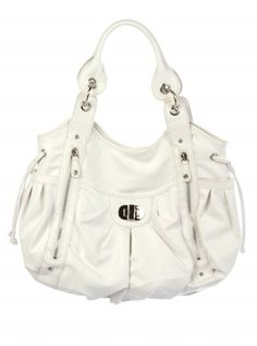 eVanity | White Purse with Zipper Detail