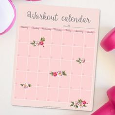 Keep progress of your workouts and stay motivated with this free workout calendar printable.