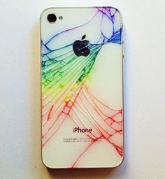 iPhone Quick Tip: Add Color to Make Your Broken Rear Glass Panel Look… Less Broke « Smartphones