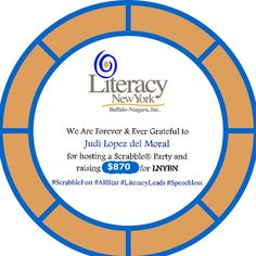 Many Thanks! #ScrabbleFest #Buffalo #Niagara #LiteracyLeads #LetterForLiteracy #GameOn