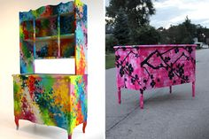 Custom Quirky Graffiti Furniture by Dudeman