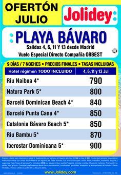 Oferton Julio Playa Bavaro desde 790 € tax incluidas. Salidas 4,6,11 y 13 Julio - http://zocotours.com/oferton-julio-playa-bavaro-desde-790-e-tax-incluidas-salidas-4611-y-13-julio/