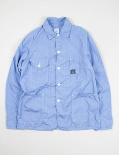 Post Overalls Blue Stripe Shirting Engineers Jacket