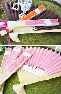 Wedding Gifts For Guests Colored Paper Fan Favors from Wedding Favors Unlimited Homemade Wedding Favors, Inexpensive Wedding Favors, Cheap Favors, Wedding Gifts For Guests, Beach Wedding Favors, Unique Wedding Favors, Wedding Ideas, Trendy Wedding, Wedding Reception