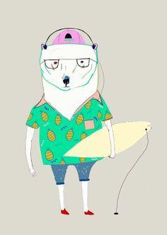 wanna bear a surf?
