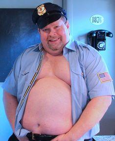 Chubby Men, Hot Cops, Fat Man, Big Men, Happy Halloween, Captain Hat, Handsome, Guys, People