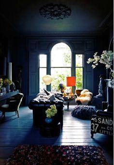 Blue interior