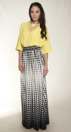 monochrome pants & top yellow s/s colection 2015, elbano
