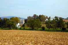 BURKITTSVILLE:  Historic Long Meadow Farm (c.1752, private home) - View From Field