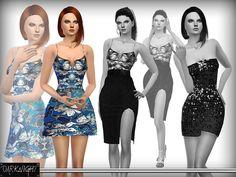 DarkNighTt's Printed Metallic Brocade Dress