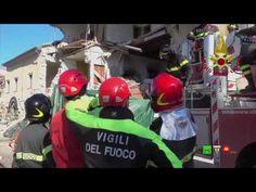 Sisma centro Italia - Soccorsi dei Vigili del Fuoco - Amatrice 16 Ottobr...