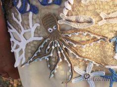 Irish crochet &: Marine motifs. Crochet.