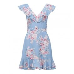 Elliette Floral Sun Dress ($105) ❤ liked on Polyvore featuring dresses, floral sundress, vintage floral dress, floral dresses, vintage day dress and white sundress