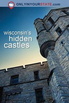Being from Wisconsin, I can't say I've seen many castles. But I was sure that my research would unearth some hidden castles in Wisconsin. Hiking Wisconsin, Wisconsin Attractions, Wisconsin Vacation, Milwaukee Wisconsin, Abandoned Places In The Uk, Places To Travel, Places To Go, Day Trips, Travel Usa