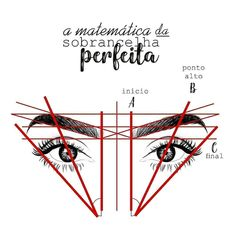 icu ~ Aprenda a matemática da sobrancelha! Eyebrow Makeup Tips, Permanent Makeup Eyebrows, Beauty Makeup, Hair Makeup, Eyebrow Tinting, Mircoblading Eyebrows, Natural Eyebrows, Eyebrow Design, Perfect Eyebrows