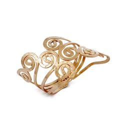 Greek Goddess Spiral Cuff