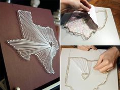 diy string map art  LOVE this idea!