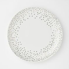 Dinnerware polka dots on pinterest dinnerware polka for Gold polka dot china