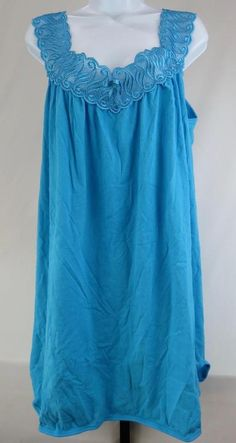 382bc1a522 JUST LOVE Sleeveless Nightgown Size Large Sleepwear Turquoise feels like  Cotton  JustLove  Gowns