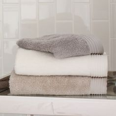 Bamboo Bath Towels from Peacock Alley: my absolute favorite towels. They're silky and super-absorbant, and they are strong!