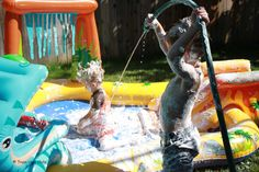 Outdoor Shaving Cream Play Pool