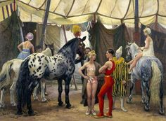 Circus Matinee, Acrobats And Horses, Pretty Horses  #HorseColicSymptomsFree www.loveyour.horse Circus Show Horses