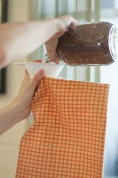 Homemade cordless heating pad to use with Essential Oils.