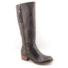 Lucky Brand Hesper Womens Size 9 Black Leather Fashion Knee-High Boots #LuckyBrand #FashionKneeHigh