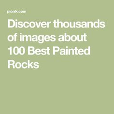 Discover thousands of images about 100 Best Painted Rocks Cool Paintings, Rock Painting, Painted Rocks, The 100, Image, Painted Stones, Stone Painting, Painted Pebbles